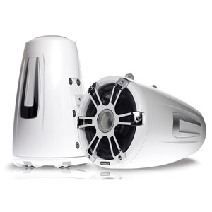 Signature Wake Tower Sports Speakers Chrome White