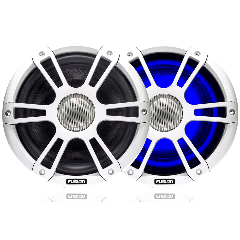 "Signature 7.7"" 280 WATT Coaxial Sports White Marine S"