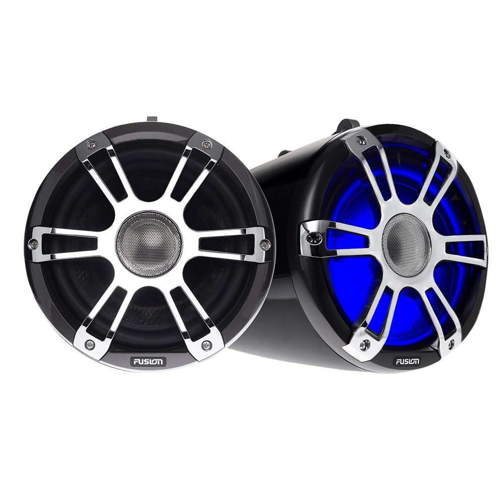 Signature Wake Tower Sports Speakers Chrome Black