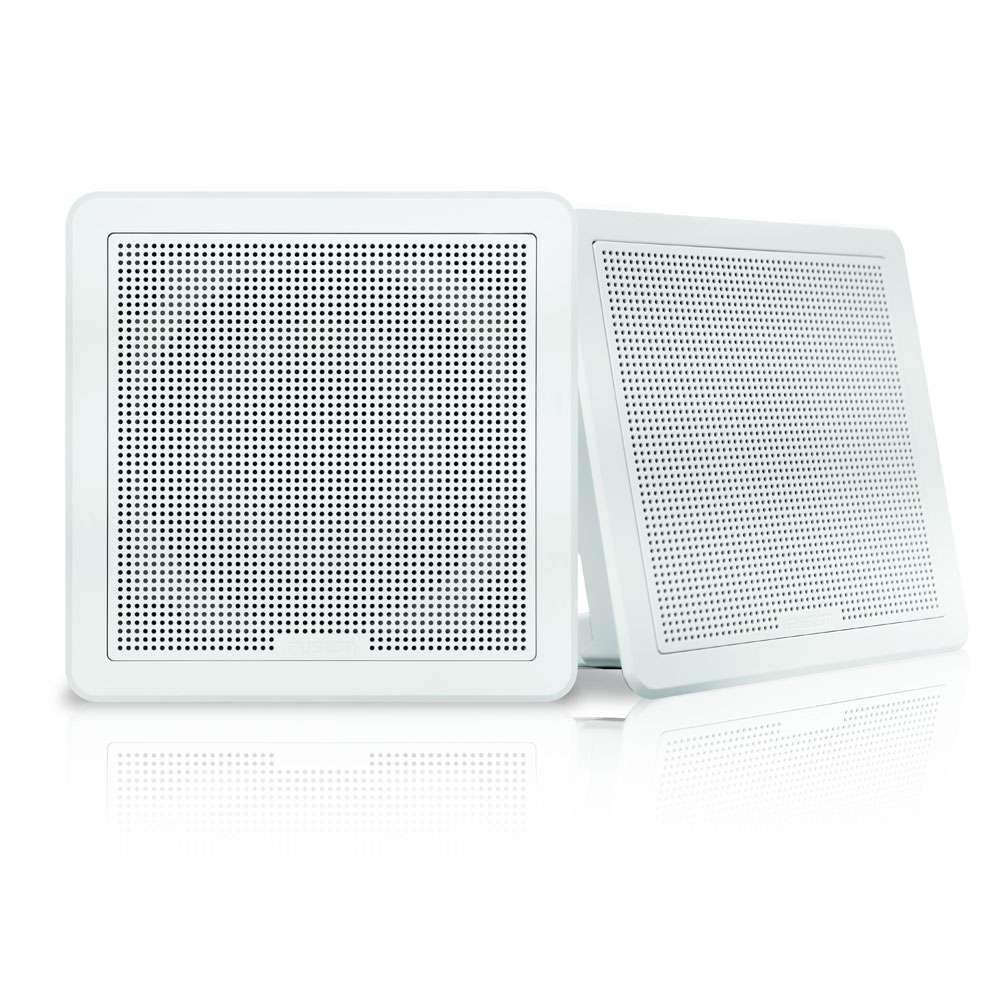 FM Series 7-7 200W Flush Mount Square Marine Speakers