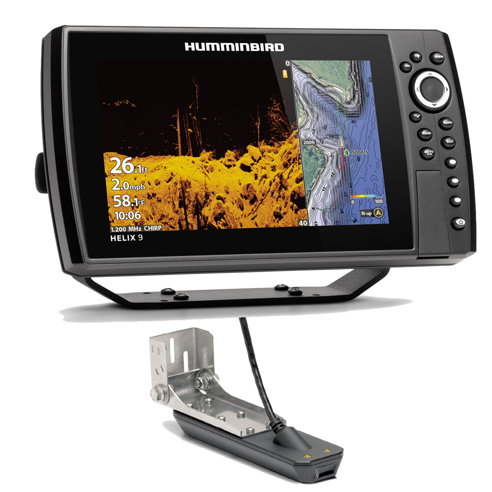 Helix 9 Chirp Mega SI Plus GPS G3N Fishfinder chartplotter Combo