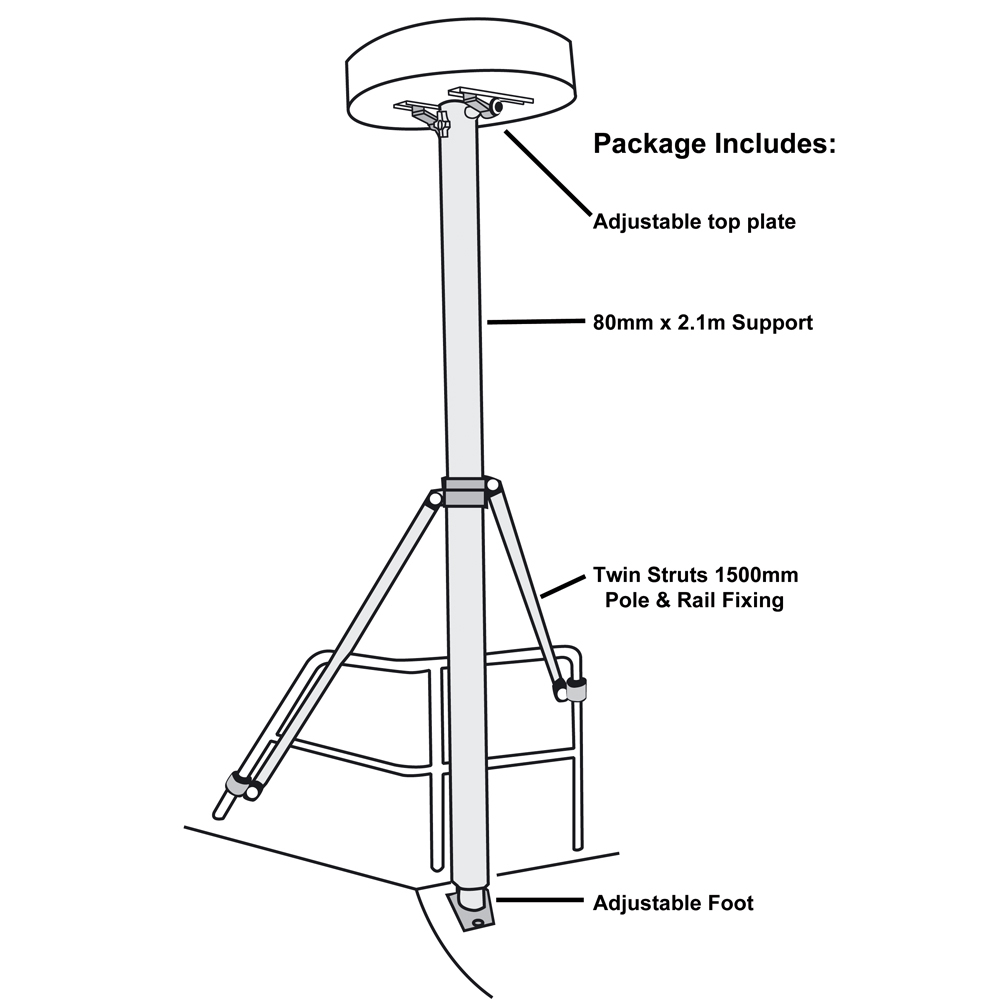 Radar Mounting Pole