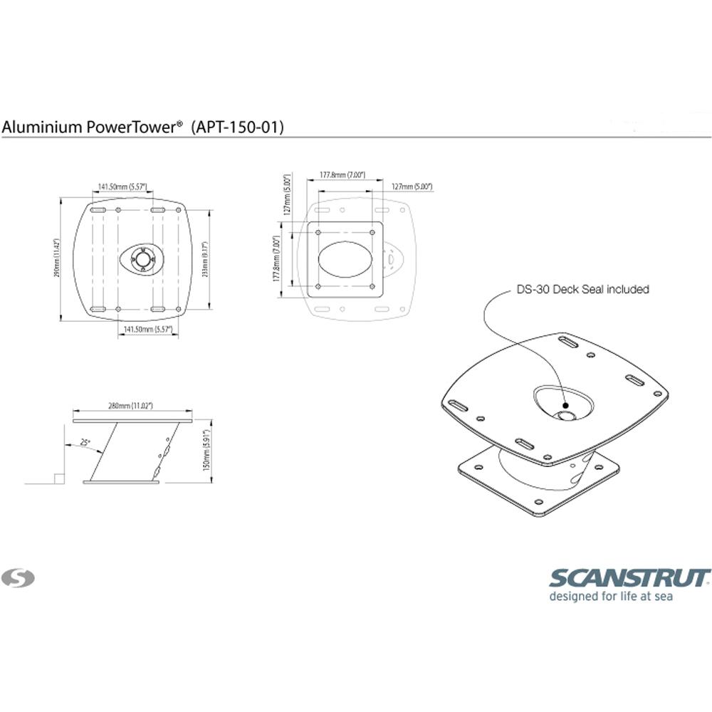Aluminium PowerTower 150mm APT-150