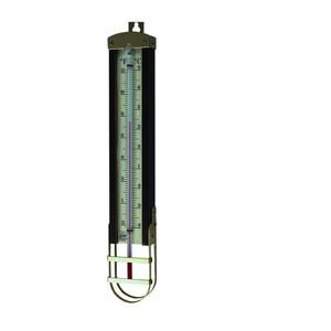Hardwood & Brass Cased Thermometer