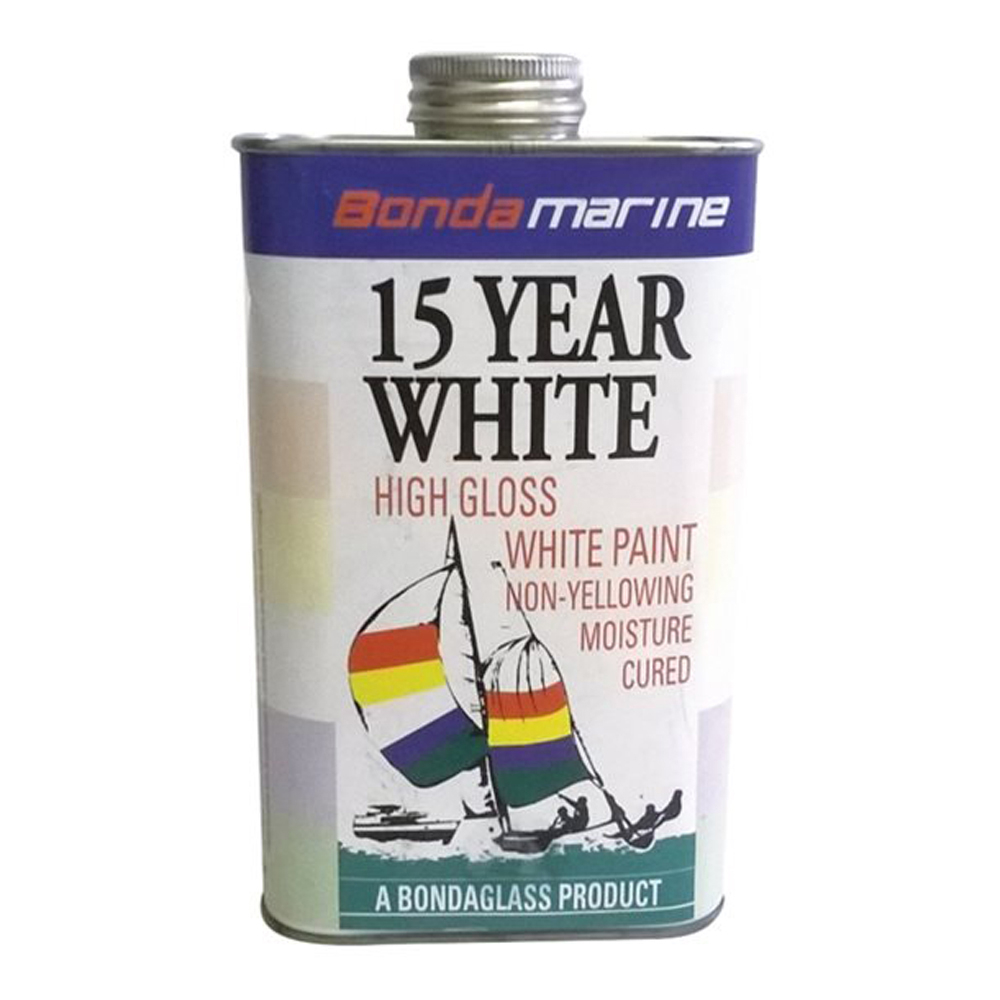 Marine 15 Year White Gloss Paint 1Ltr