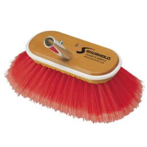 6 inch Combo Deck Brush Soft Medium Red