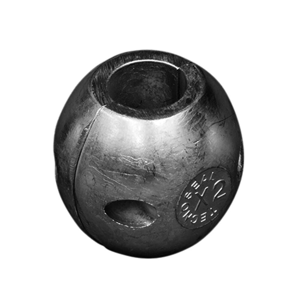 Free P/&P 40 mm dia Egg Zinc split shaft anodes for boat yacht