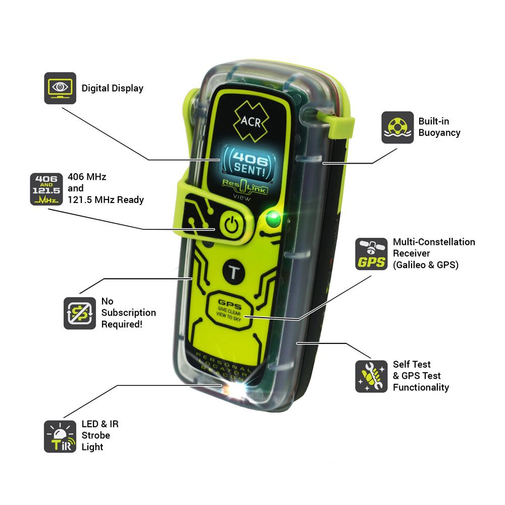 ResQLink View 406MHz GPS Buoyant PLB