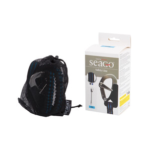 1 Hook & Cowhitch Elasticated Safety Line Black