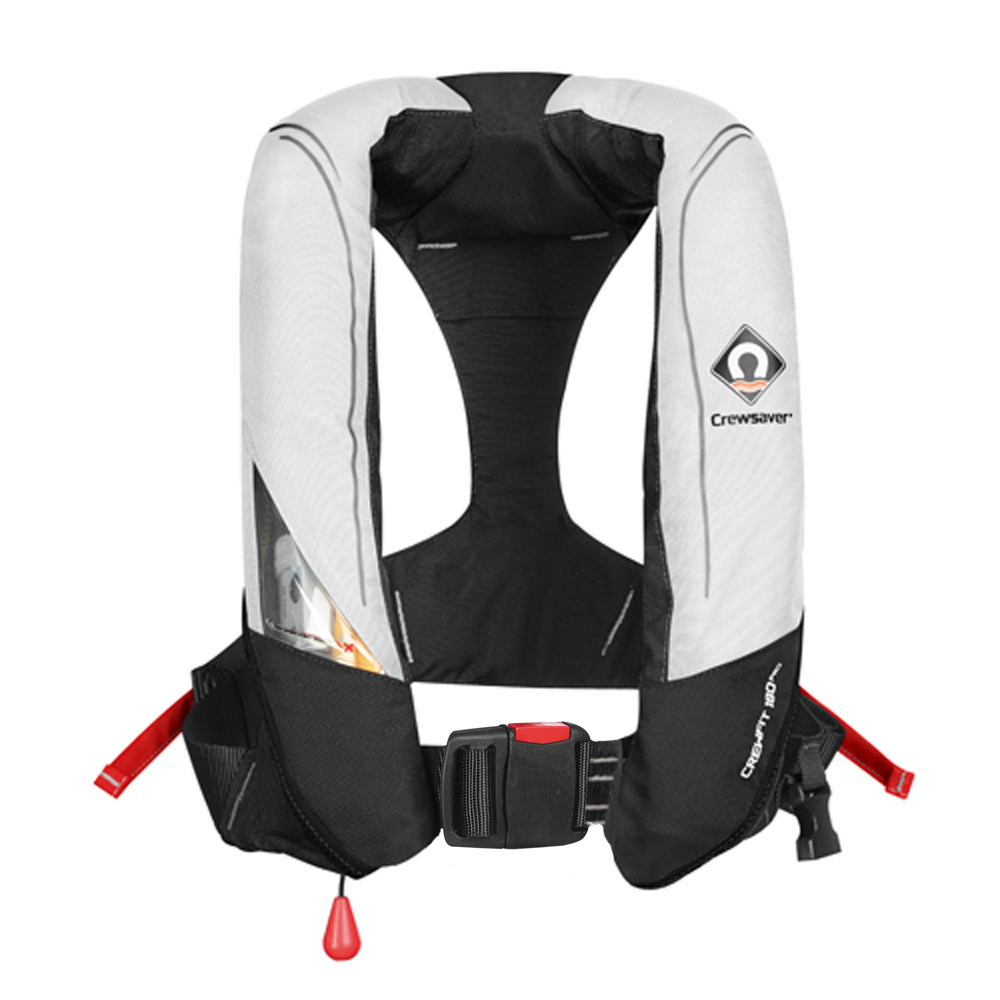Crewfit 180N Pro Auto Lifejacket - White Black