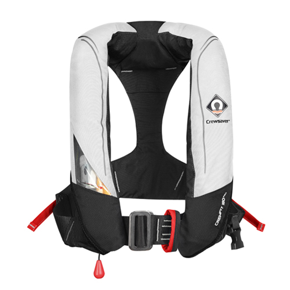 Crewfit 180N Pro Lifejacket Auto Harness - White Black