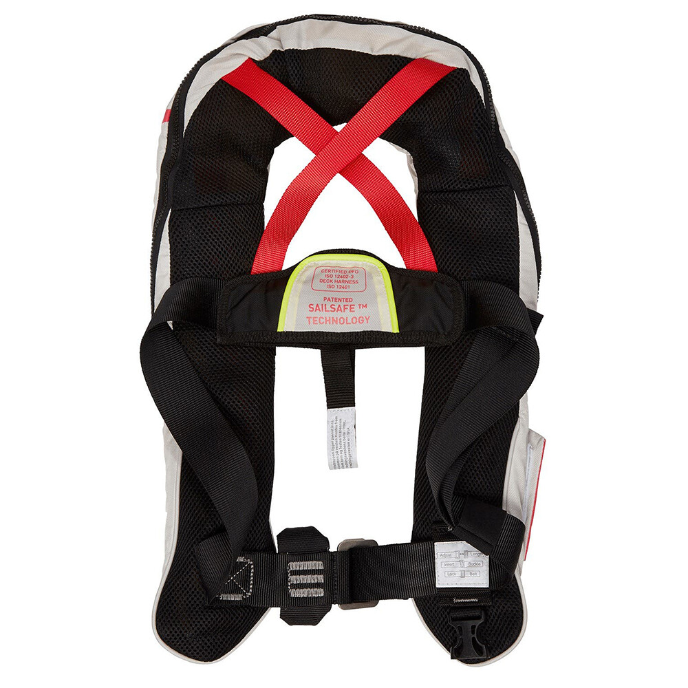 Sailsafe Auto Lifejacket with Harness - Nimbus Cloud White