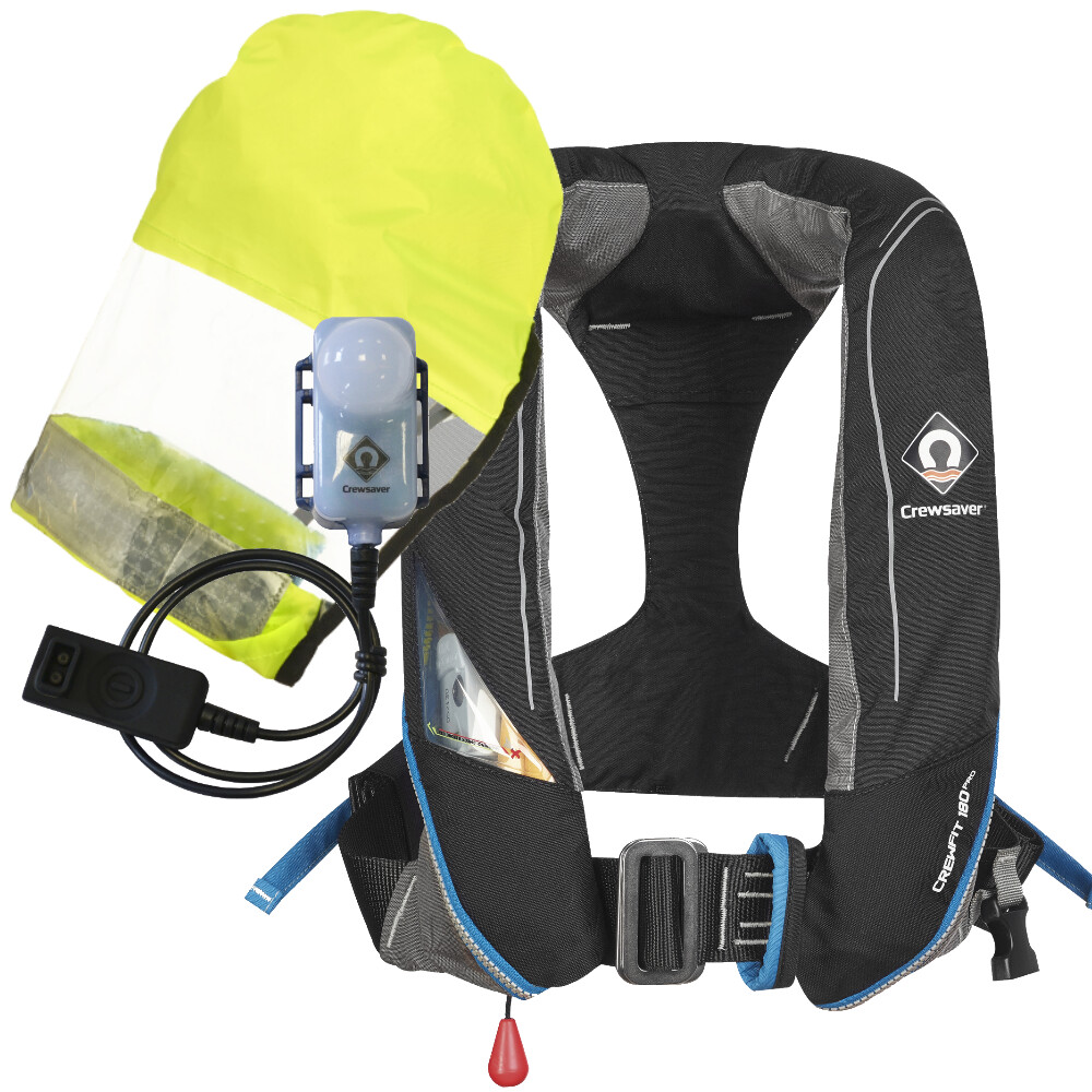 Crewfit 180N Pro HUDLITE Automatic Harness Lifejacket