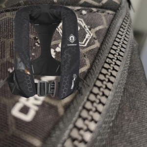 CREWFIT Plus 180N Pro Lifejacket Auto Harn Black Inc Hood & Light