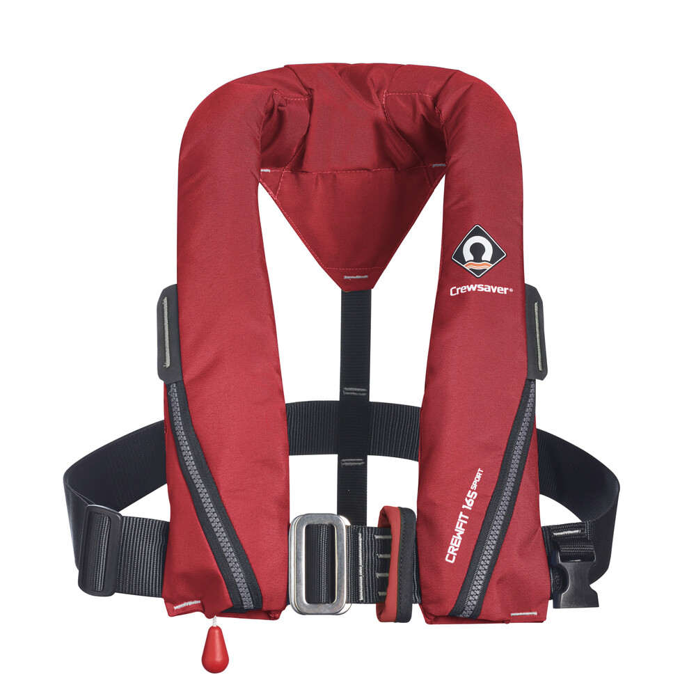 Crewfit 165N Sport Lifejacket Manual Harness Red