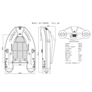 270 Aluminium Hull RIB