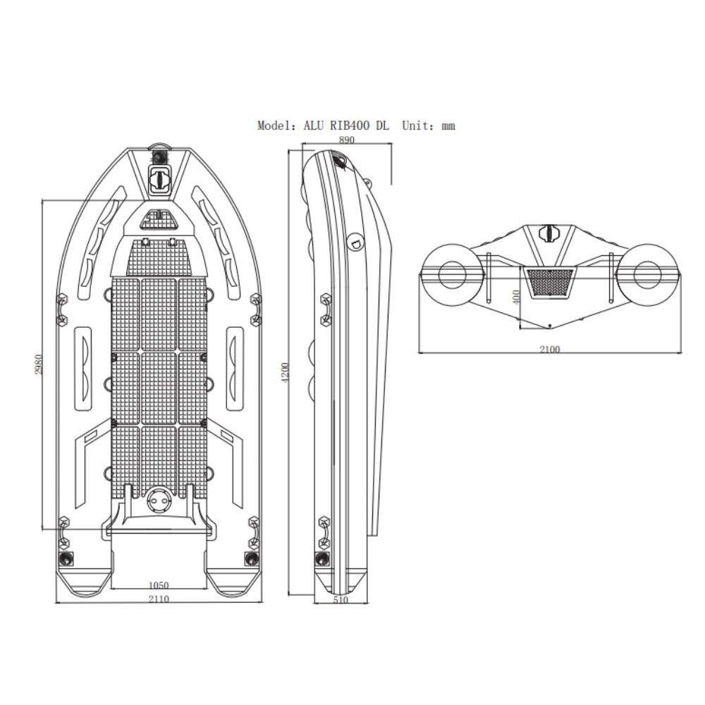 420 Aluminium Hull RIB