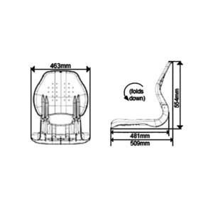 Sirocco Deluxe Folding Seat Light Grey/Dark Grey
