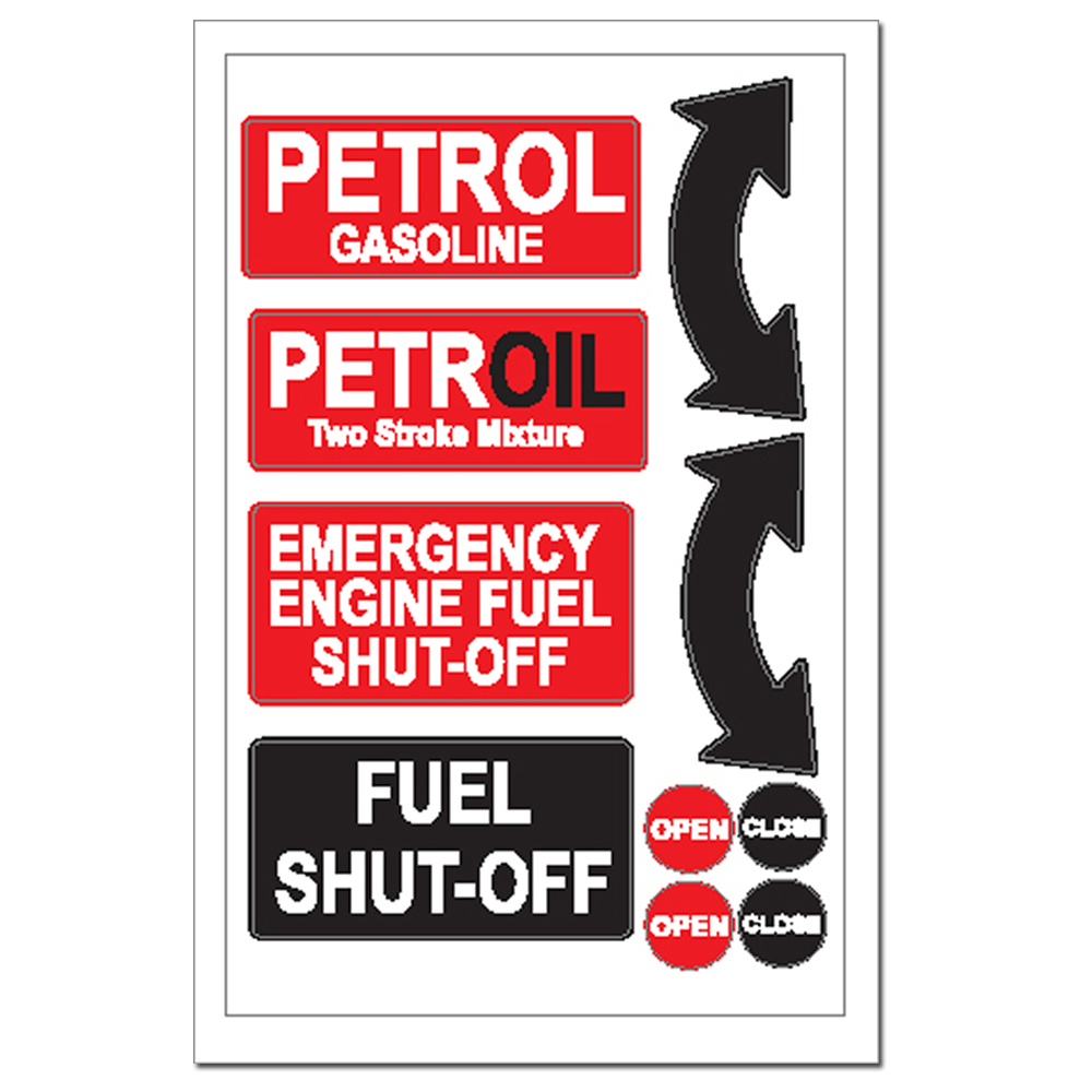 Sticker - Petrol Fuel Shut Off