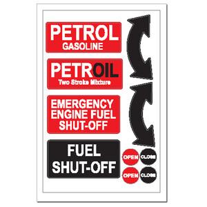 Sticker - Petrol Fuel Shut Off