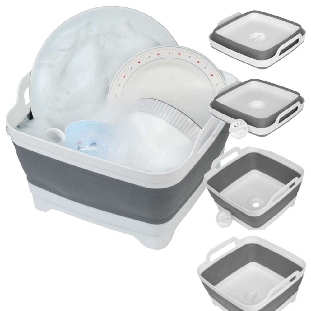 Collapsible Washing Up Bowl with Drain Plug