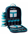 Coast 4 Person Picnic Backpack Aqua/White