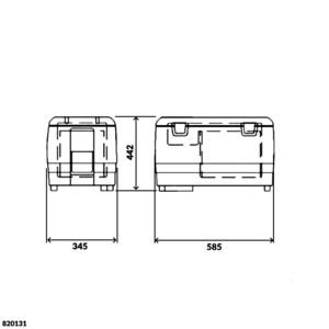 Portable 40 Litre Fridge Freezer