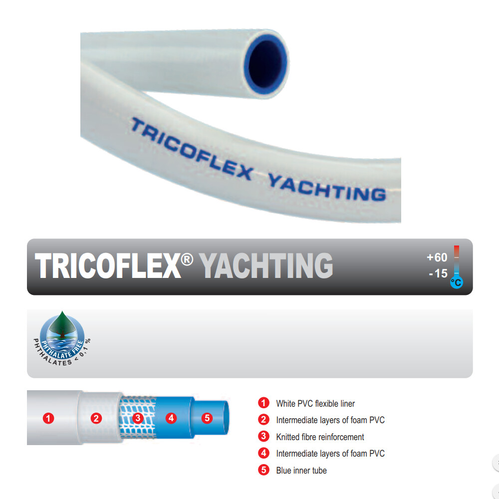 Tricoflex Yachting Hose 12mm x 15m