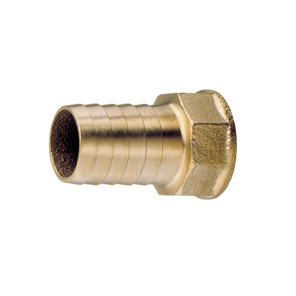 "1/2"" BSP Brass Hose Connector for 13mm (1/2"") ID Hose"