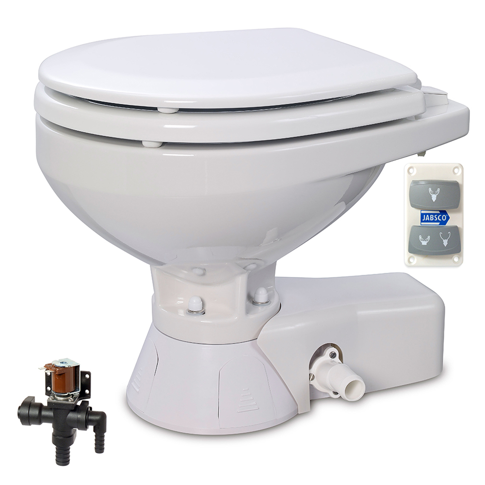 Quiet Flush Fresh Water Toilet 12V Compact
