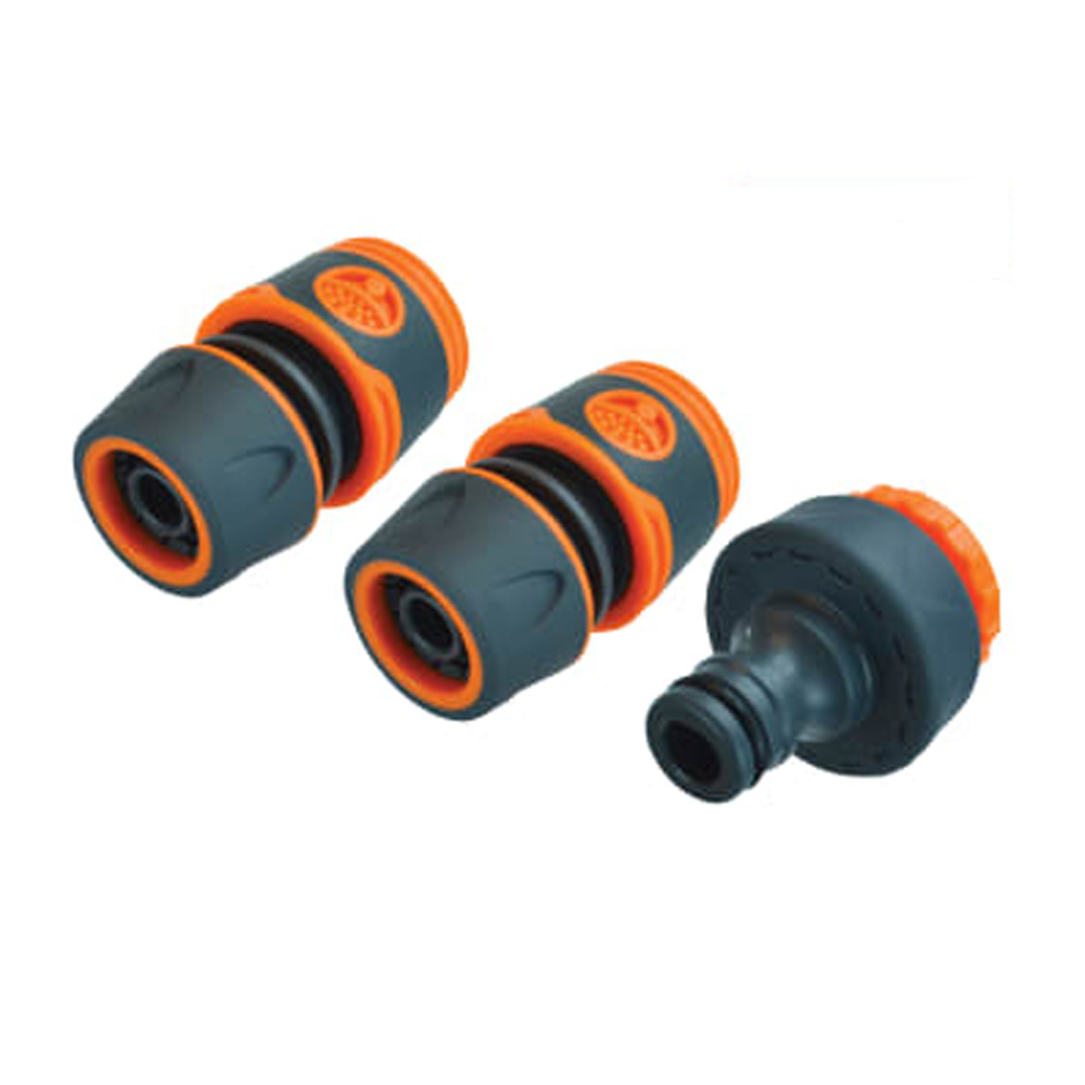 Plastic 19mm Hose Fittings Kit - 3 Piece