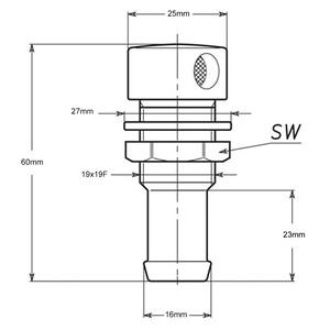 Tank Vent - 16mmID Hose