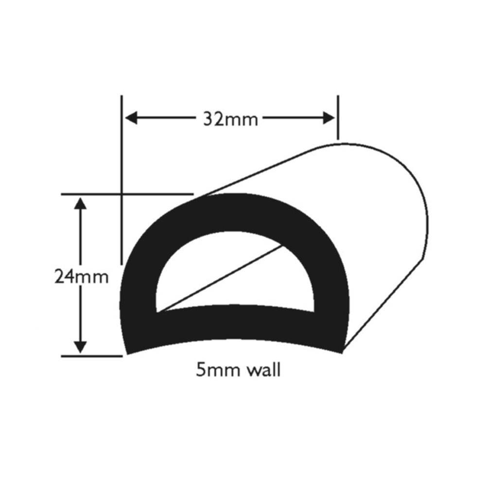 PVC D-Fendering W32mm
