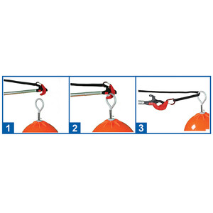 Catching Boat Hook with Extending Pole