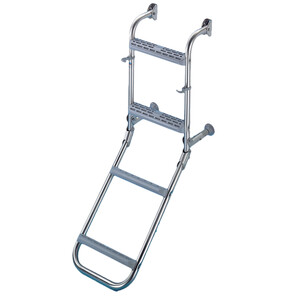 Stainless Steel Ladder with Plastic Treads