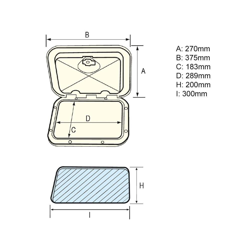 Top Line Hatch 270x375mm