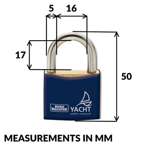 Marine Rustproof Yacht Padlock 30mm - 3 Pack