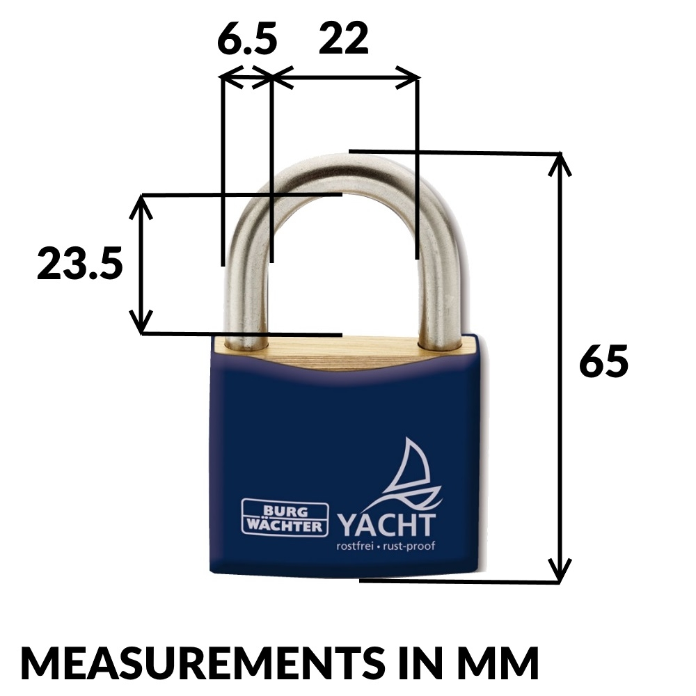 Marine Rustproof Yacht Padlock 40mm - 2 Pack