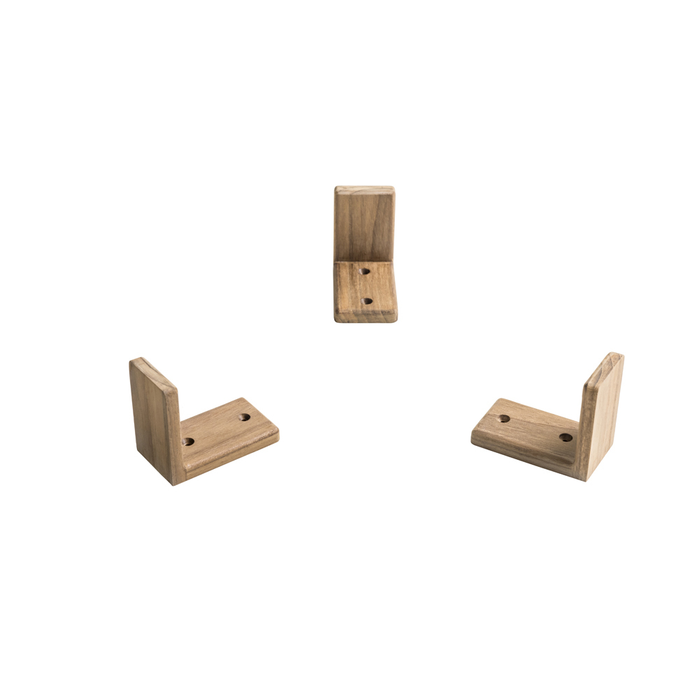 Teak Tableware Fixation Brackets (3pk)
