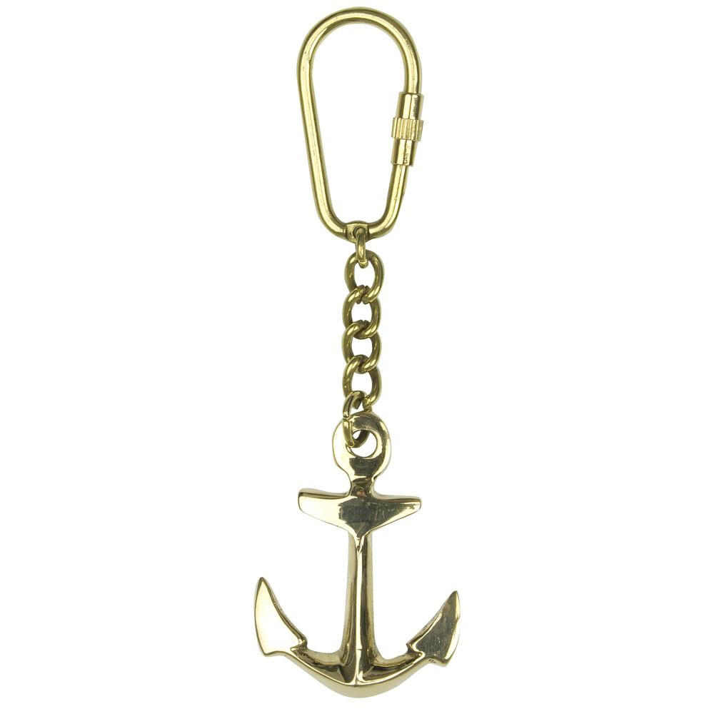 Keyring - Brass Anchor