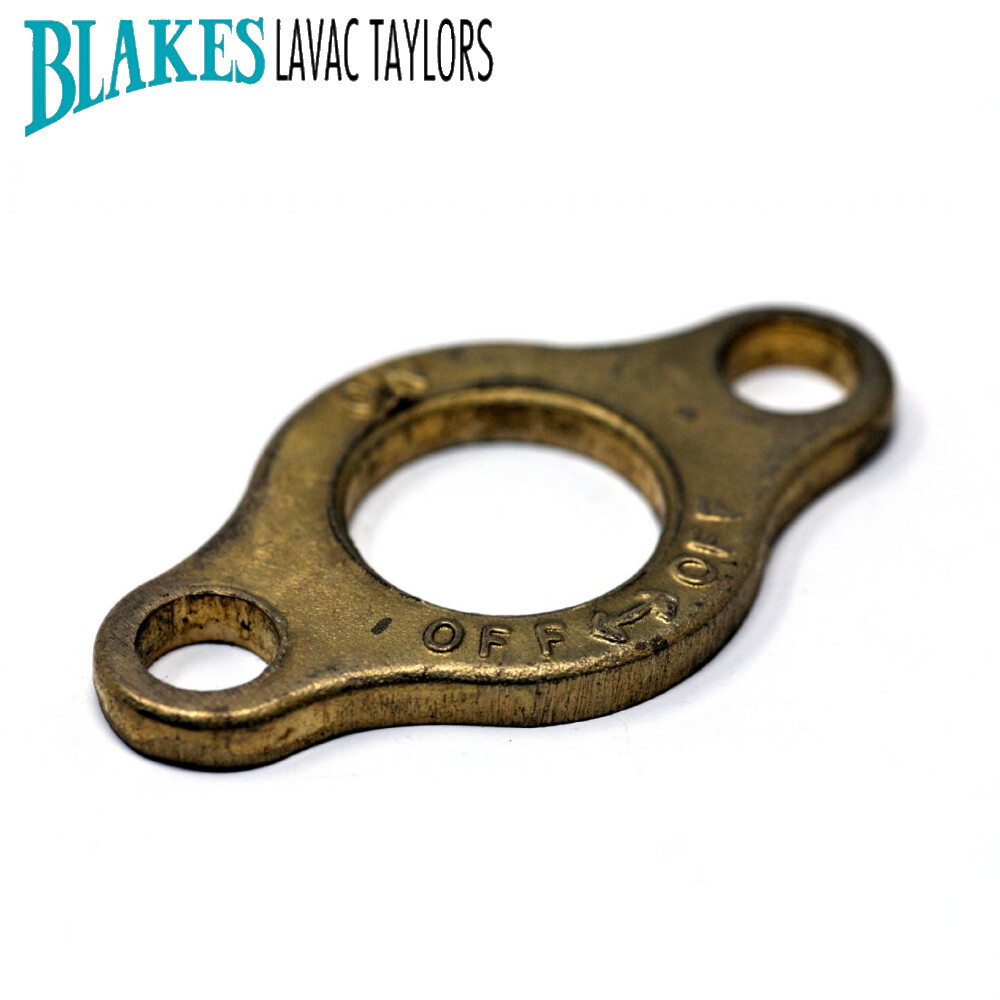 "Blakes Seacock 0.75"" ON OFF Keep Plate"