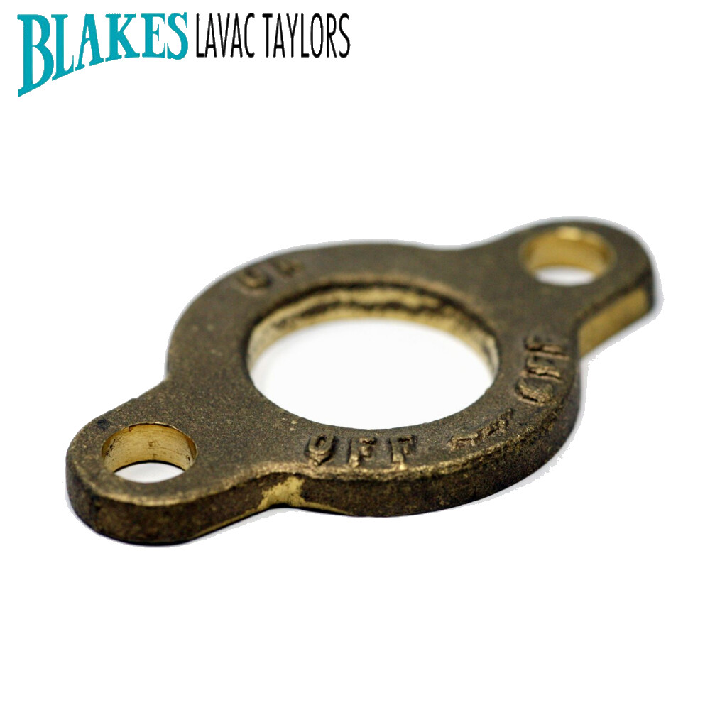 "Blakes Seacock 1.5"" ON OFF Keep Plate"