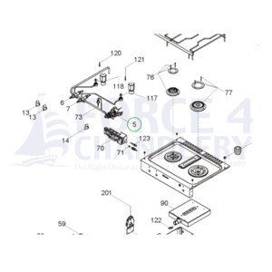Gas Thermostat Oven Grill