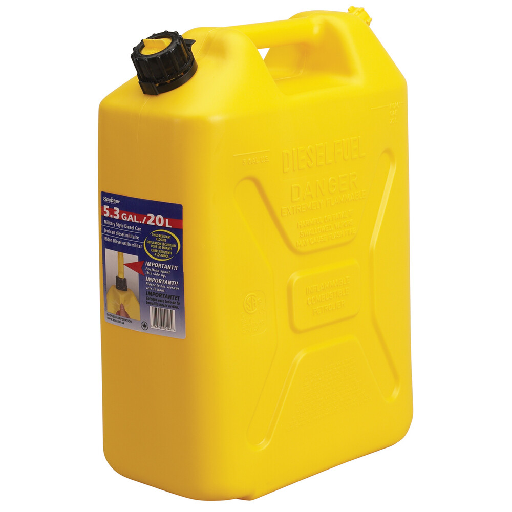 Diesel Jerry Can 20 Litre (Yellow)