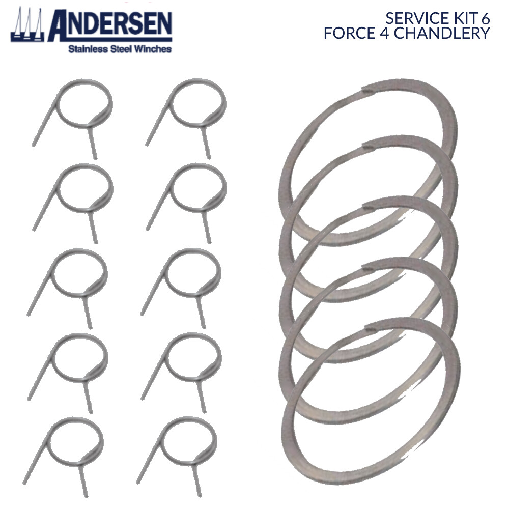 Winch Service Kit 6 - Springs & Top Circlip Only