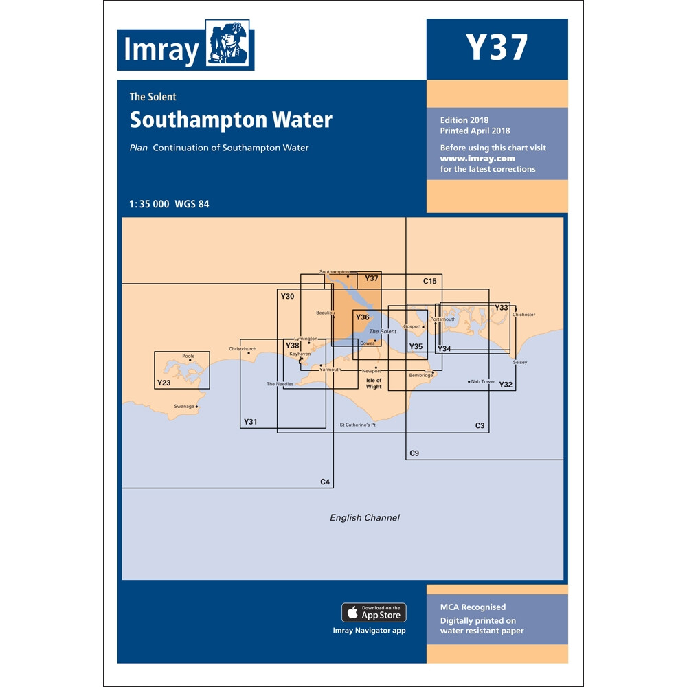Y37 - Southampton Water Chart (Replaces 2200.7)