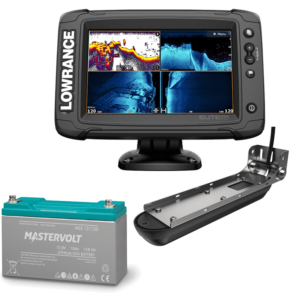 Elite-7 Ti2 Chartplotter & Fishfinder and Mastervolt MLS Lithium Ion Battery 10A Bundle