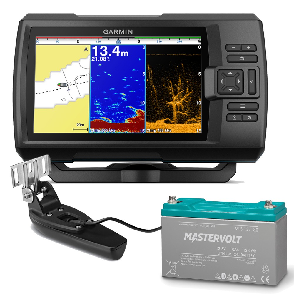 Striker Plus 7cv Fishfinder and Mastervolt MLS Lithium Ion Battery 10A Bundle