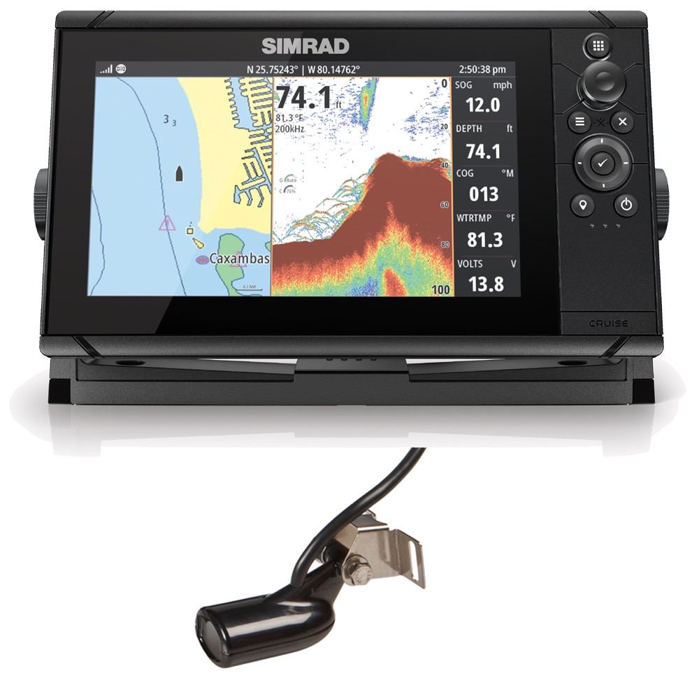 Cruise 9 Chartplotter Transducer Suncover & UK Chart Bundle