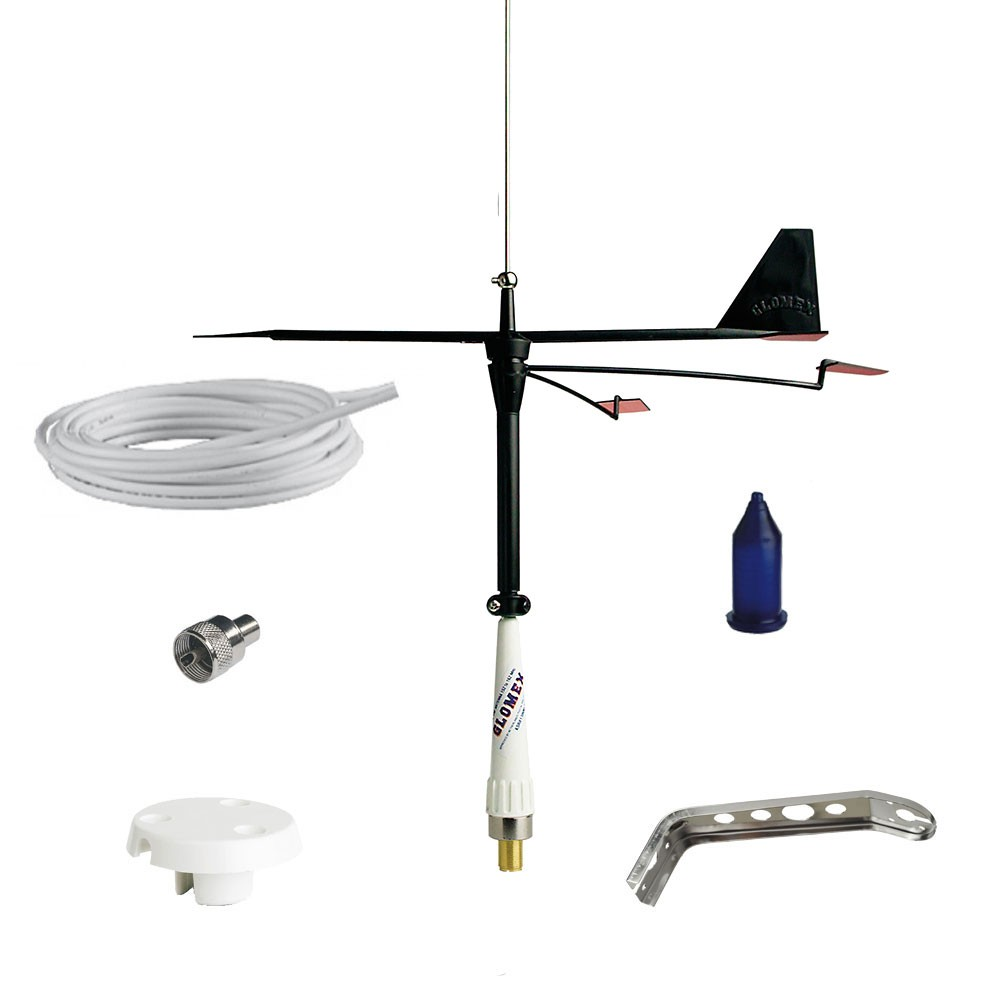 Stainless Steel Whip Antenna(230130) with Wind Indicator(230